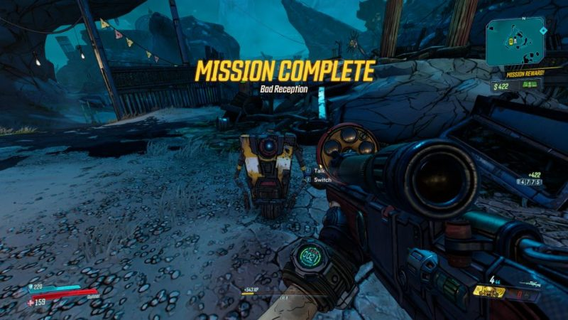 borderlands 3 - bad reception all five location