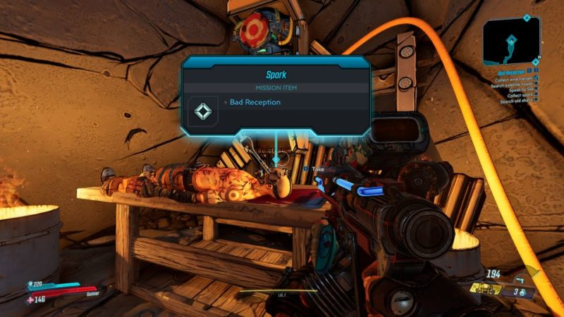 borderlands 3 - bad reception mission guide