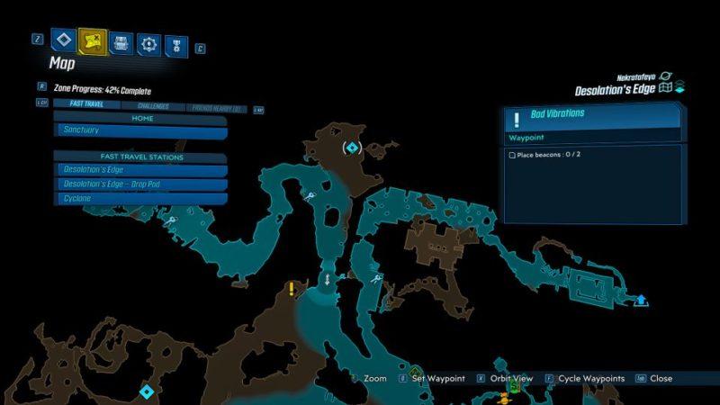 borderlands 3 - bad vibrations quest walkthrough
