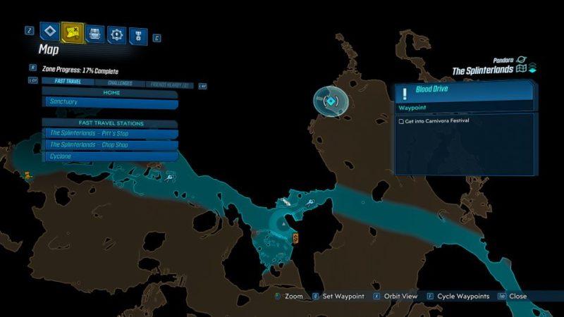 borderlands 3 - blood drive quest walkthrough and guide