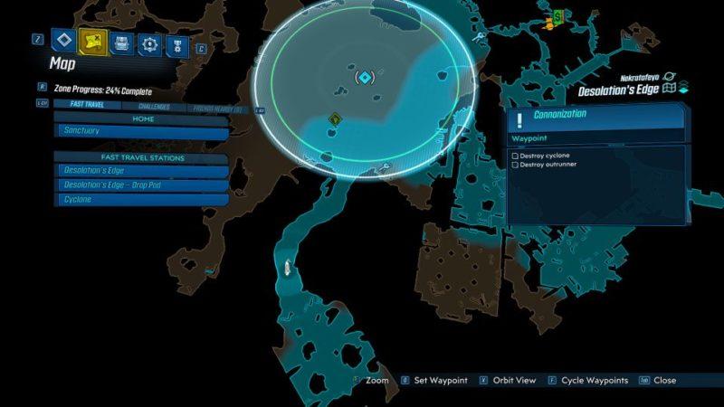 borderlands 3 - cannonization mission guide
