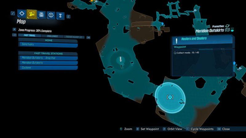 borderlands 3 - healers and dealers mission objective