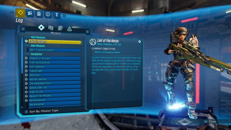 borderlands 3 - lair of the harpy
