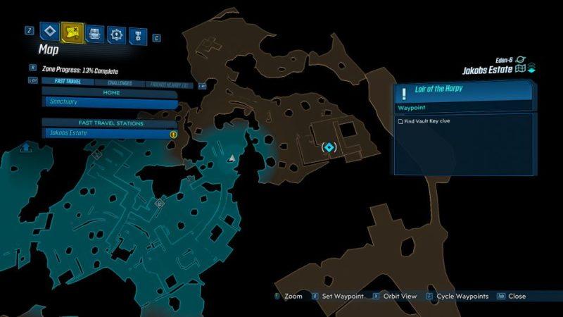 borderlands 3 - lair of the harpy mission walkthrough
