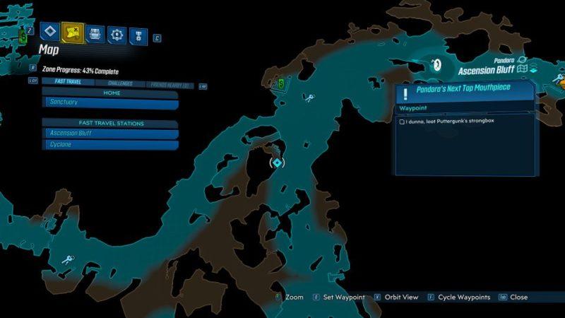 borderlands 3 - pandora's next top mouthpiece mission guide