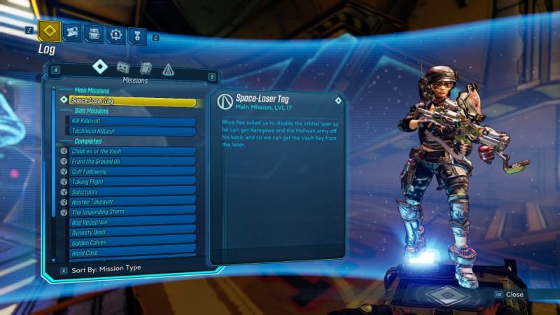 borderlands 3 - space-laser tag