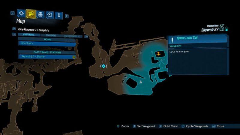 borderlands 3 - space-laser tag mission walkthrough