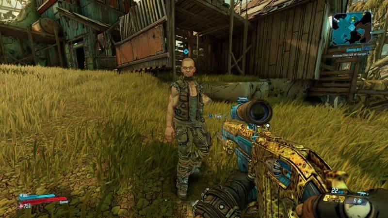 borderlands 3 - swamp bro mission objective