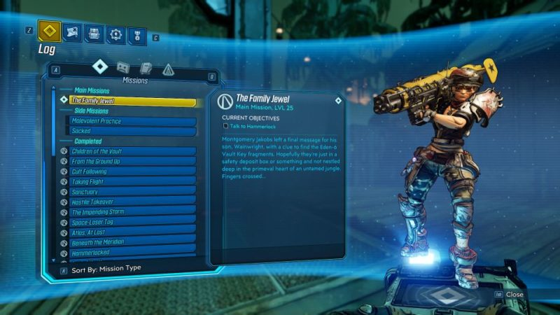 borderlands 3 - the family jewel guide