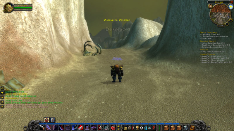 classic wow - desolace location
