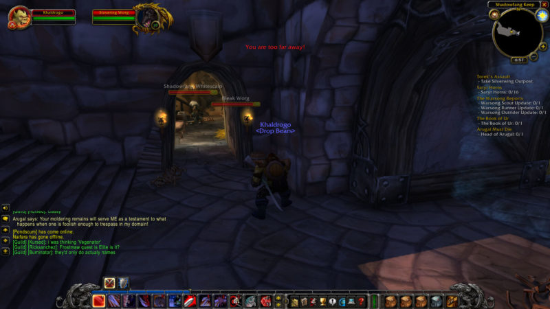 wow classic -deathstalkers in shadowfang location