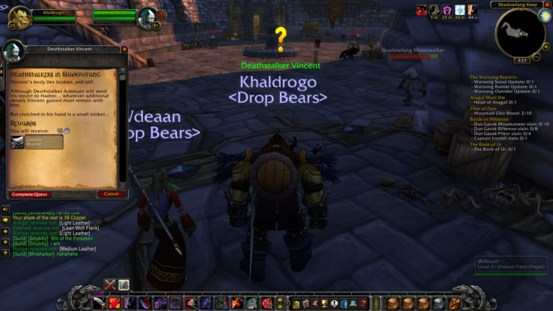 wow classic -deathstalkers in shadowfang wiki