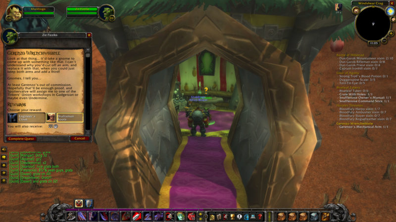 wow classic - gerenzo wrenchwhistle guide and tips