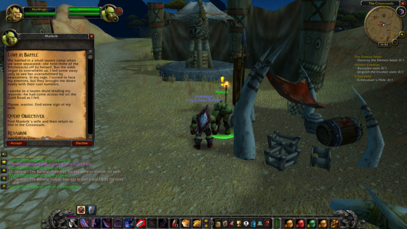 wow classic - lost in battle