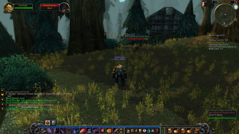 wow classic - the dead fields location