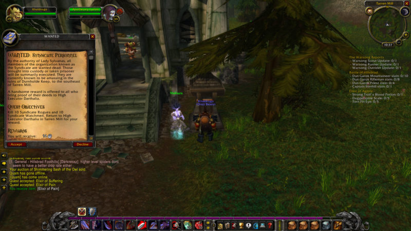 wow classic - wanted- syndicate personnel