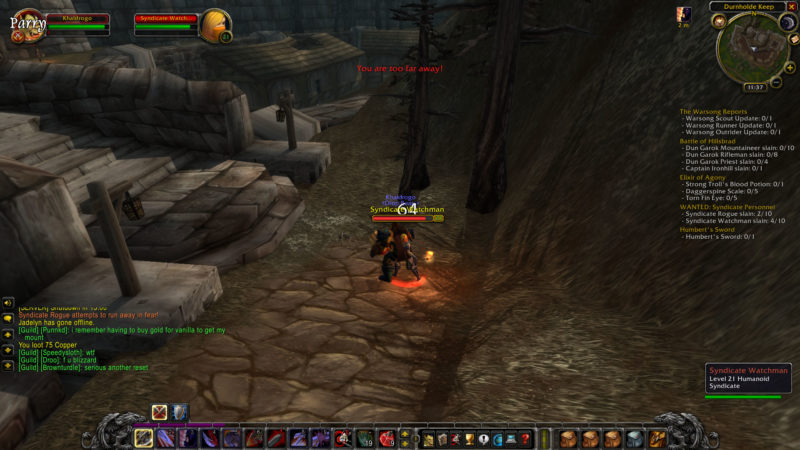 wow classic - wanted- syndicate personnel walkthrough