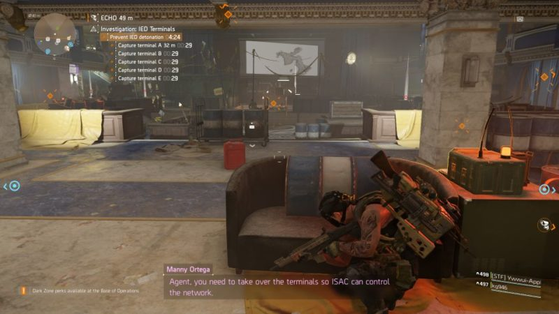 division 2 - kenly student union - ied terminals walkthrough guide