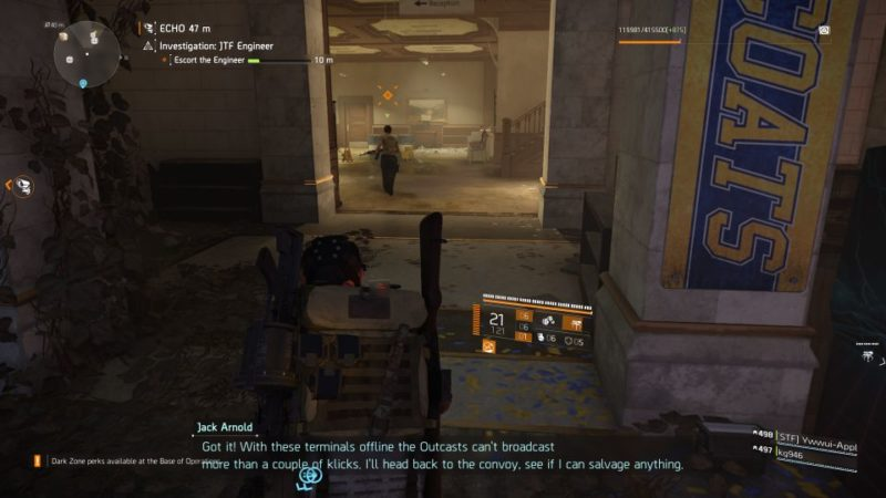 division 2 - kenly student union - jtf engineer wiki and guide