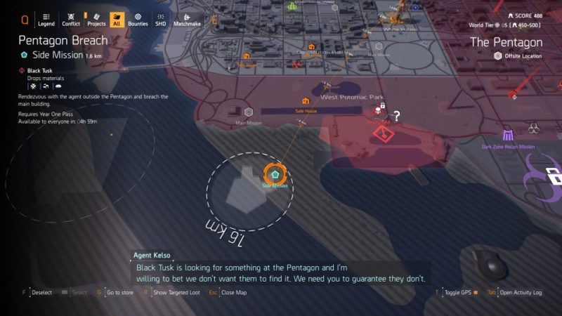 division 2 - pentagon breach