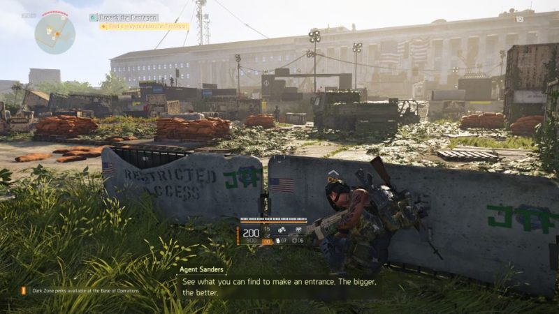 division 2 - pentagon breach mission walkthrough