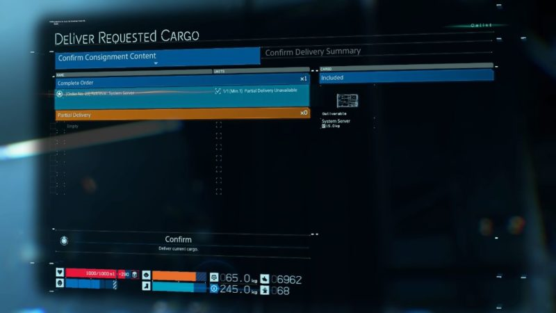 death stranding order 23 (system server) tips