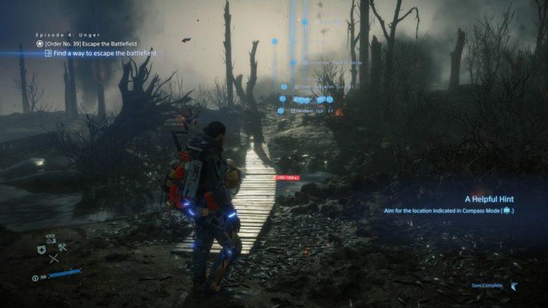 death stranding order 39 - escape the battlefield