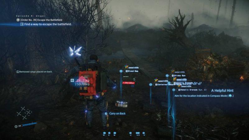 death stranding order 39 - escape the battlefield guide