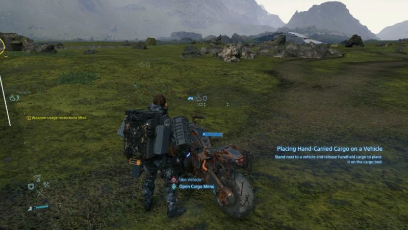 how to start the bike in death stranding