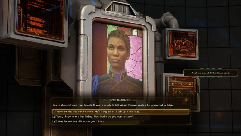 the outer worlds - the demolished woman tips