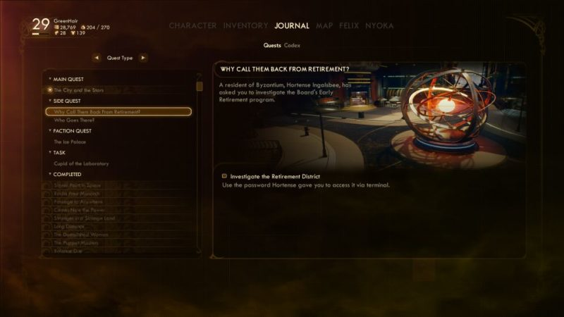 the outer worlds - why call them back from retirement guide