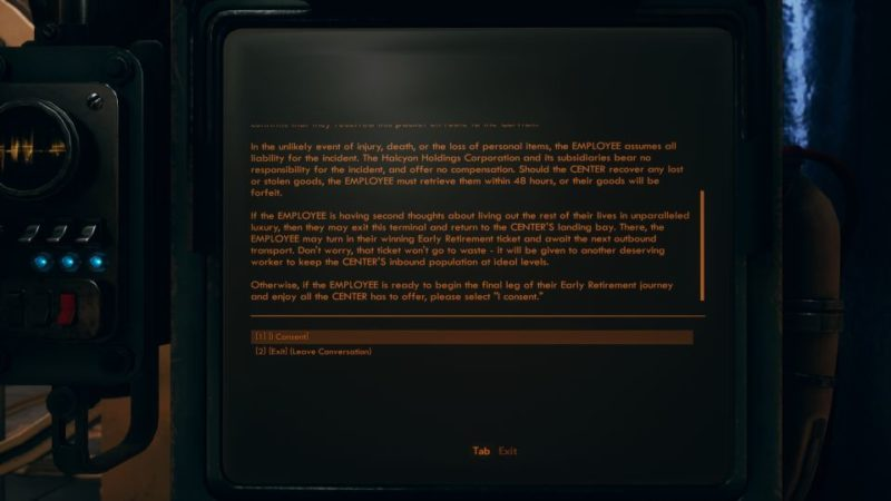 the outer worlds - why call them back from retirement mission