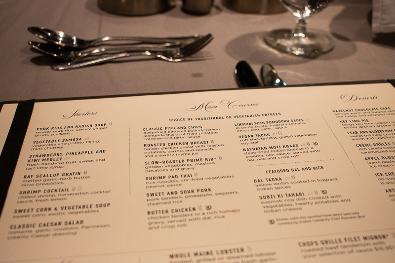 quantum of the seas main dining room food menu
