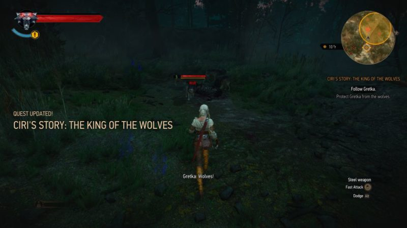 ciri's story - the king of the wolves - witcher 3 quest