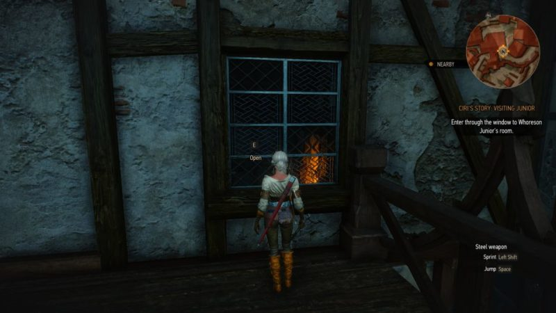 ciri's story visiting junior - witcher 3 quest