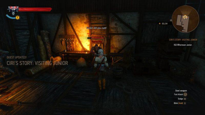 ciri's story visiting junior - witcher 3 walkthrough