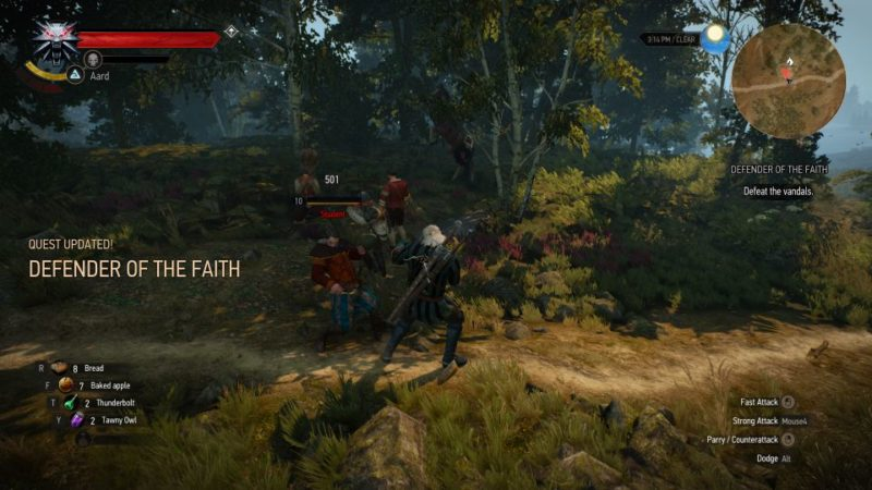 defender of the faith - witcher 3 tips