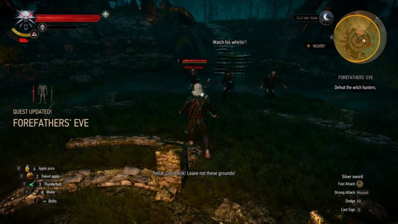 forefathers' eve - witcher 3 walkthrough and guide
