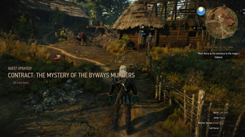 the mystery of the byways murders - witcher 3