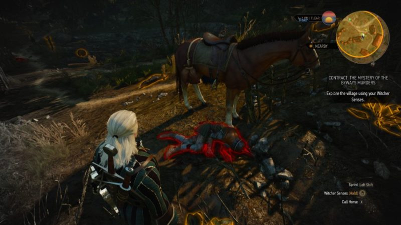 the mystery of the byways murders - witcher 3 quest guide