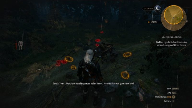 the witcher 3 - a favor for a friend quest guide