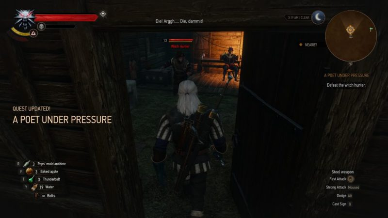 the witcher 3 - a poet under pressure tips