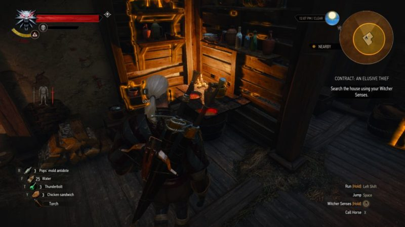 the witcher 3 - an elusive thief tips