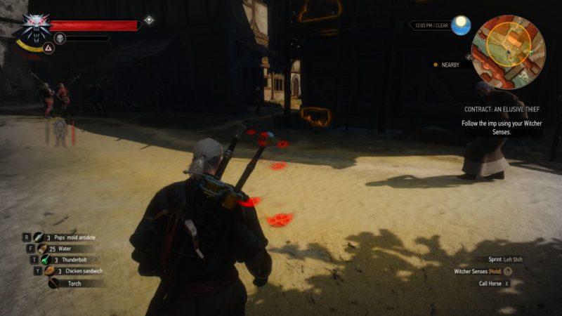 the witcher 3 - an elusive thief wiki
