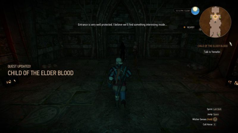 the witcher 3 - child of the elder blood quest