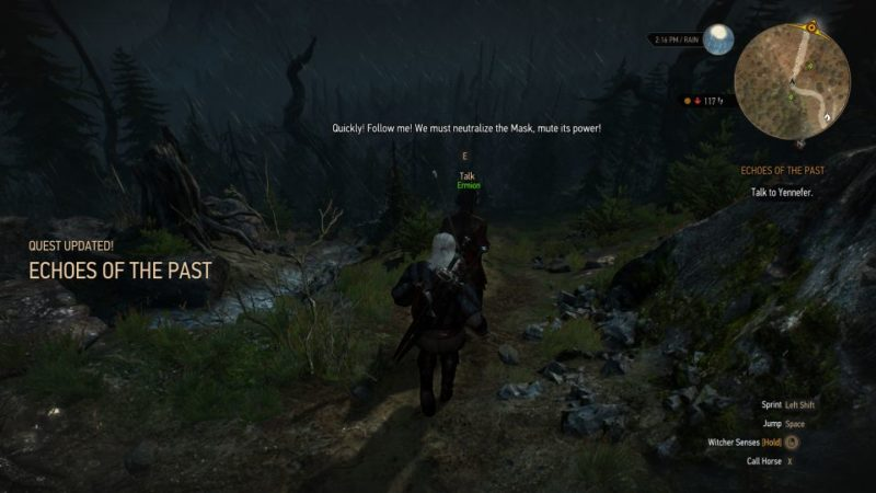 the witcher 3 - echoes of the past walkthrough and guide