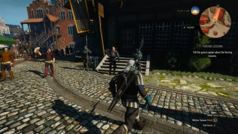 the witcher 3 - fencing lessons quest