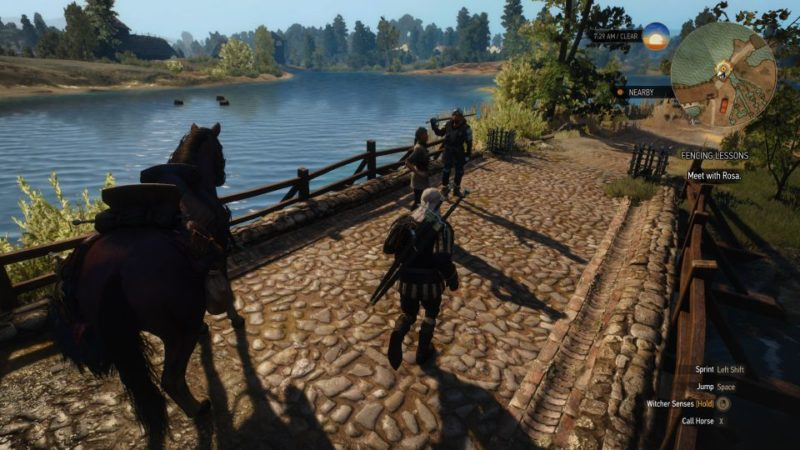 the witcher 3 - fencing lessons quest guide