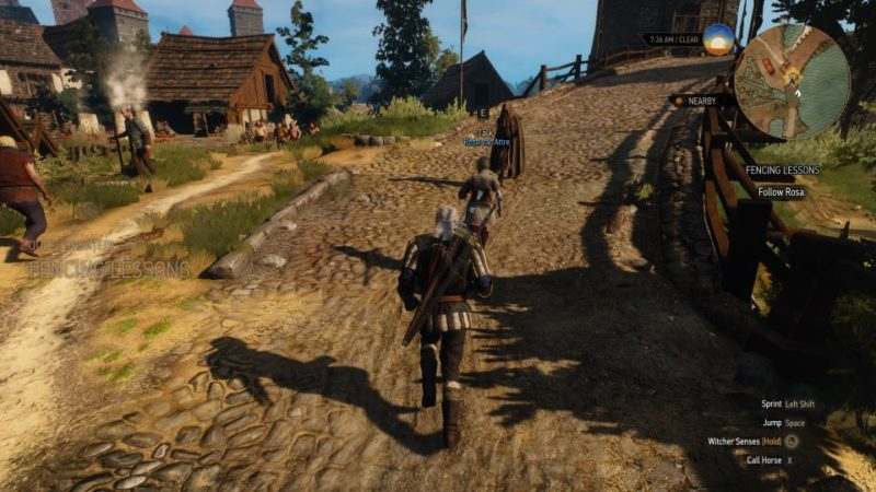 the witcher 3 - fencing lessons quest walkthrough