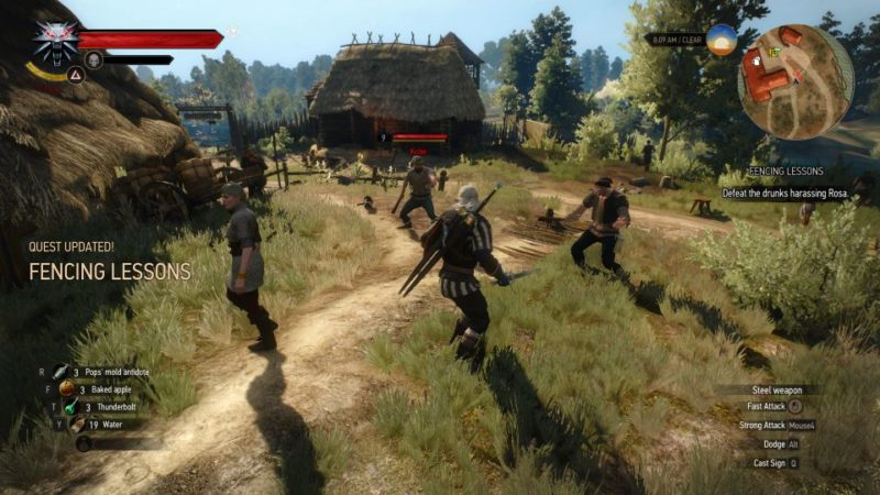 the witcher 3 - fencing lessons tips